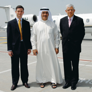 Majestic plans: Pictured from left to right are Michael Makarius, director of sales, Farooq Arjomand, chairman, and Philipp Zürcher, director.