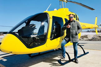 Michael Wilford has spent six hours at the controls of a Bell 505 so far, and has been impressed with what he has seen.